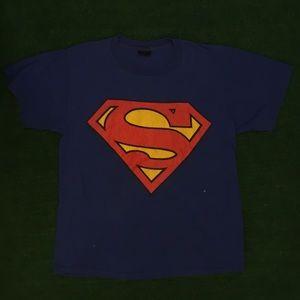 Vintage 80s Superman logo tee